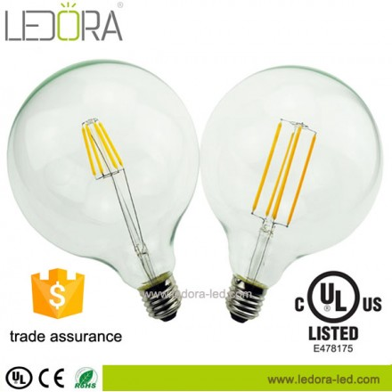 dimmable led bulb,G125 led filament bulb