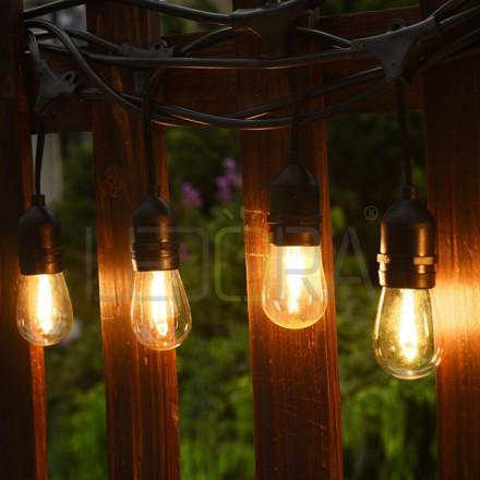 18ft Led Outdoor Weatherproof String Lights Kit For Patio