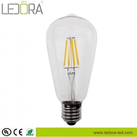 UL 6W ST64 LED filament bulb