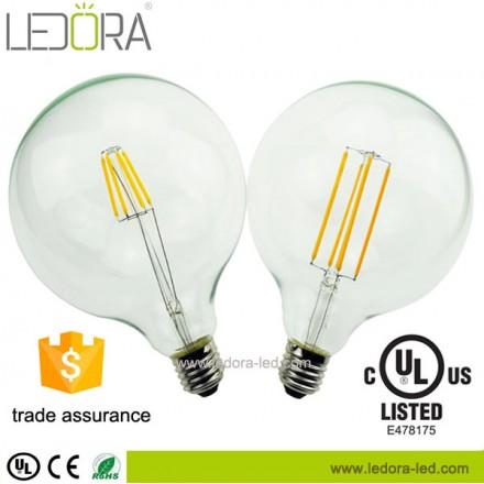 dimmable led bulb,G125 led filament bulb